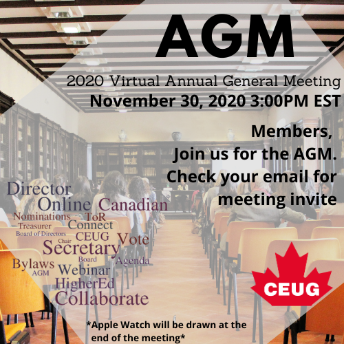 ATTEND THE AGM NOVEMBER 30